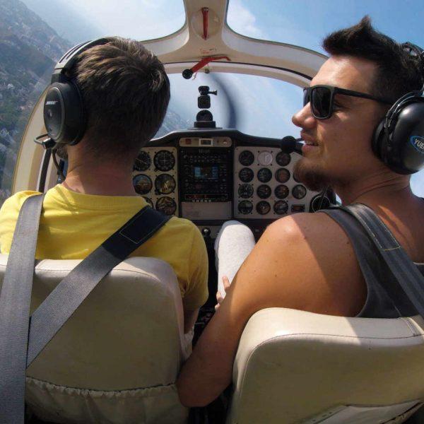 Полёт на самолёте над Уссурийском
